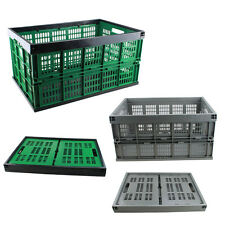 Collapsible plastic Storage Crate Fold Flat basket folding Box home office use