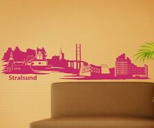 Wall tattoo Stralsund Skyline XXL Decal Wall Sticker Germany City 1M 181