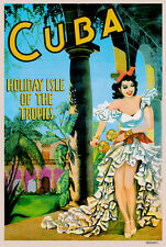 CUBA HOLIDAY ISLE TRAVEL POSTER print on Paper or Canvas Giclee