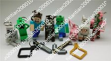 10PCS Jazwares Game Minecraft Animals 3D Enderman Creeper Kids Gift