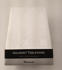 "Rectangular Tablecloth Plain with Self Check Design 52"" x 70"" in 6 colours"