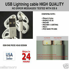 iPhone 6 plus STRONG USB CABLE Sync Charger Cord Data IOS 8.1 Heavy Duty 6ft