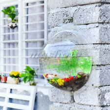 Fish Wall Mounted Bowl Aquarium Wall Hanging Tank Plant Decoration Bubble Pot