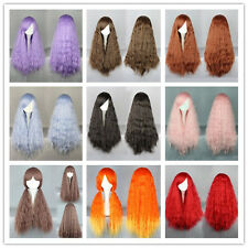 Fashion Long Women Girl 9 Colors Curly Anime Wavy Hair Cosplay Party Wig