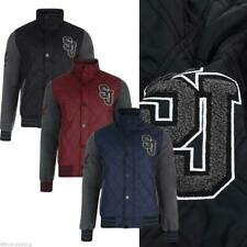 MENS S&J FOR CROSSHATCH QUILTED VARSITY JACKET BASEBALL COLLEGE LETTERMAN JACKET