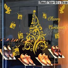 Merry Christmas Tree Gift Present Angel Shop Window Wall Art Decoration Sticker