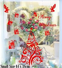 Merry Christmas Tree  Xmas Present Angel Shop Window Wall Art Decoration Sticker