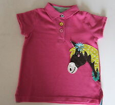EX- MINI BODEN GIRLS FUN APPLIQUE POLO TOP T SHIRT PUPPY OR HORSE AGES 1-12 NEW!