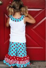 NEW Ruffle Collar Shirt with Triple Bell Pants Set Girls Sizes 2T to 5