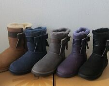 $200 UGG Australia Women´s Josette Bow Shearling Boots * NEW *