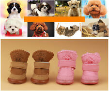 Cute Warm Winter Cozy Pet Dog Boots Puppy Best Shoes 2 Color For Small Dog