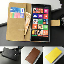 Wallet Flip Leather Case Cover For Nokia Lumia 520 525 530 625 630 920 925 1020