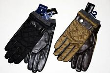 NWT 2015 RALPH LAUREN POLO MENS GLOVES LEATHER QUILTED WOOL Black Green S/M L/XL