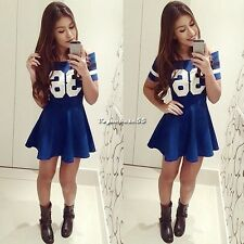 Sexy Fashion Women Casual Short Sleeve Party Evening Cocktail Short Mini Dress V