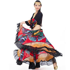 Gypsy Belly Dance Costume (Top,720 Degree Circle Open Big Multi-color Skirt)