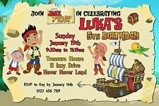 Jake & the Never Land Pirates Birthday Party Invitation On Disc - You Print!!