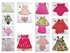 NEW Toddler Infant Baby Girls 2 Pc Bloomers Dress Outfit Set Sz:3,6,6-9,12,18,24