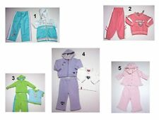 NEW Toddler Kids Baby Girls 2-3 Pc. Hooded Tracksuit Outfit Set Sz:0-3,12,3T Mo