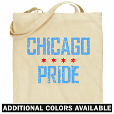 Chicago Pride Tote Bag - Proud Chicagoan Chi-Town IL Shopping Shoulder Bag - NEW