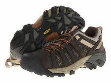 Keen Outdoor Mens VOYAGEUR Black Olive/Inca Gold Leather Trail Shoes 1002570