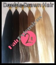 DOUBLE DRAWN Indian Remy AAAA U/ Nail Tip Hair Extensions 1G 18 inch