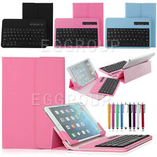 "Universal Bluetooth Keyboard + Stand Cover Case For 7-7.9"" Android IOS Tablet PC"