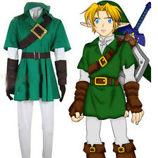 The Legend of Zelda Zelda Link Cosplay Costume Outfit Any Size for Adult kids