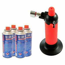 SOLDERING WELDING GAS REFILLABLE BLOW TORCH BUTANE REFILLS CANISTERS COOKING GUN