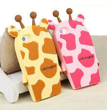 Cute Cartoon 3D Animal Giraffe Soft Silicone Cover For Iphone 4 5 5S 6/Plus Case