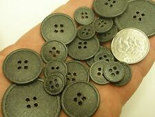 New Lots of Black Metal Buttons /Gold specks 1/2 , 5/8, 11/16, 7/8 1inch &1 3/8