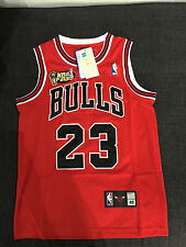 ★Xmas Deal★+$10 for Short Michael Jordan #23 Chicago Bulls Jersey NBA Adult Kid