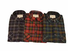 Mens Lumberjack Check Shirt Casual Work Long-Sleeved Navy Red Green Size S XXL