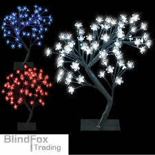 64 LED Cherry Blossom Tree Bonsai Fairy Lights Twig Garden Floor Table Lamp