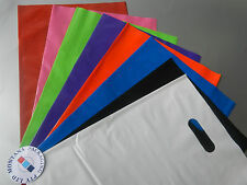 100 X PLASTIC CARRY BAG WITH DIE CUT HANDLE