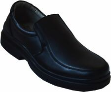 Men Slip On Oil Resistant Shoes Boots Restaurant Busboy Cook Waiter Black-jo/01