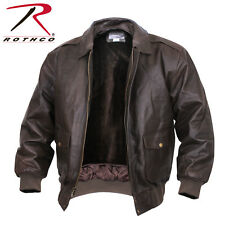 Brown Vintage Military Air Force Style Leather Classic A-2 Flight Jacket 7577