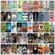 Wild Animal Anchor Pattern Hard Back Skin Case Cover For Samsung Galaxy S3 S4 S5