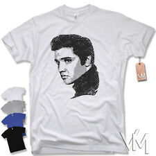ELVIS T-Shirt The King Presley Rock 'n' Roll Rockabilly Size S M L XL XXL