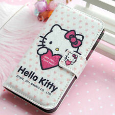 Lovely Hello Kitty Leather Wallet Pouch Case Cover for Apple iPhone 4/5+film