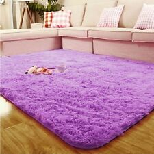 Soft Anti-skid Shaggy Area Rug Dining room Carpet Comfy Bedroom Floor Mat Chic
