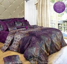 ASTER Queen/King Size Bed Quilt/Doona/Duvet Cover Pillowcases Set New Purple