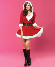 Sexy Mrs Claus Dress Outfit Santa Claus Christmas Party Costume Dress NEW