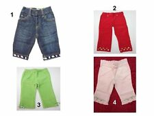 NWT GYMBOREE Children Toddler Infant Baby Girls Denim Pants Jeans Sz: 3-6,18-24,