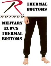 BLACK Military ECWCS Cold Weather Thermal Polypropylene H.W.BOTTOM ONLY 6245
