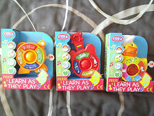 BABY PLAY MUSICAL TOY ANIMAL FLASHING LIGHTS & DOG,CAT,DUCK SOUNDS 12+ Months