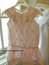 Cacharel Girls Delicate Lace Embroidered Dress Age 4Y/6Y/10Y/12Y - Brand New