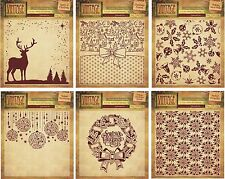 "CRAFTERS COMPANION 6x6"" EMBOSSING FOLDER VINTAGE CHRISTMAS COLLECTION - NEW"