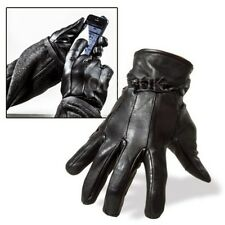 MENS LEATHER GLOVES THERMAL THINSULATE LINED BLACK DRIVING SOFT WINTER GIFT