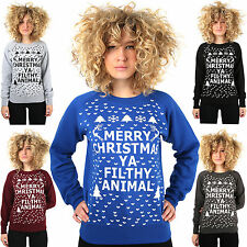 HOME ALONE XMAS SWEATER Merry Christmas Ya Filthy Animal Sweatshirt Jumper New