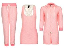 Womens South Beach Lounge Set Top Tracksuit Bottoms Hooded Playsuit Size UK 6-16
